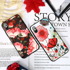 Emboss Oil Painting Flower TPU Phone Case Cover for iphone X XS XR XSMAX 8Plus