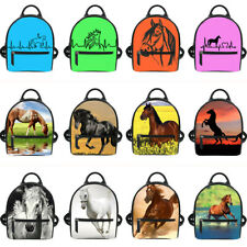 Fashion Horse Women Lady Mini Backpack Faux Leather Travel School Rucksack Bag