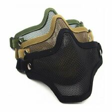 Half Face Mask Protective Guard Metal Mesh Cover Tactical Airsoft Paintball New