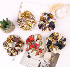 Vintage Women Silk Hair Scrunchies Hair Band Ponytail Holder Hair Ties Rope