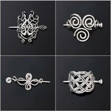 Women Viking Runes Barrettes  Jewelry Vintage  Knots Crown Hairpins  Hair Clips