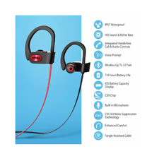 Mpow Flame Bluetooth Headphones Waterproof IPX7, Wireless Earbuds Sport, Richer