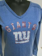 NEW YORK GIANTS WOMANS LONG SLEEVE FASHION VINTAGE SHIRT NEW SIZE EXTRA SMALL