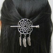 Silver Color Large Dreamcatcher Hairpins Hair Clips Stick Slide Accessories