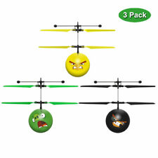 Angry Birds Officially Licensed IR UFO Hand Sensor Helicopter Ball - 3 Pack -NEW