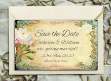 Save the Date Magnets - Personalised Cottage Garden Wedding Magnets & Envelopes