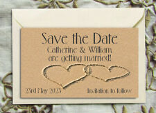 Save the Date Magnets - Personalised Hearts in the Sand Magnets withEnvelopes