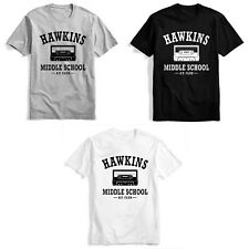 Stranger Things HAWKING Middle School Tee Unisex Daily T-shirt Cosplay XS-3XL
