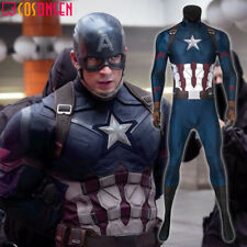 Captain America Steve Rogers Jumpsuit Avengers Endgame Halloween Men Outfits