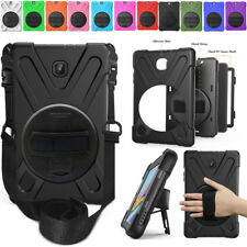 "Heavy Duty Rotating Hard Kickstand Case Cover For Samsung Galaxy Tab A 8.0"" T387"