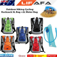 Hiking Camping Cycling Running Hydration Pack Backpack Bag + 2L Water Bladder LF