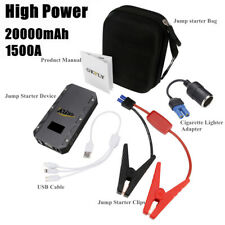 1500A Two-Way Fast Charge High Power Car Jump Starter Power Portable LED12000mAh