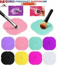 Silicone Make Up Brush Cleaning Mat Hand Tool Washing Scrubber Clean Cleaner Pad