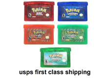 5 GBA Pokemon FireRed Emerald Sapphire Ruby LeafGreen Game Card Game Boy Advance