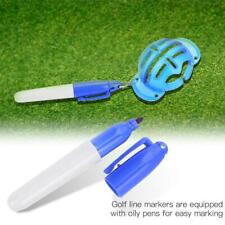 Plastic Golf Ball Liner Marker Line Drawing Template Alignment Tool w/ Mark Pen