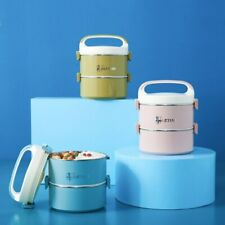 Stainless Steel Lunch Box Leakproof Bento Portable Food Container Double Layer