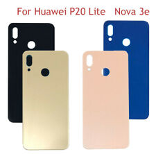 For Huawei P20 Lite Nova 3E Rear Glass Back Battery Cover Replacement Adhesive A