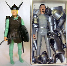 "1968 KNIGHTS VIKINGS 12"" marx figure -- ARMOR ARM HAND HEAD LEG HELMET SWORD"