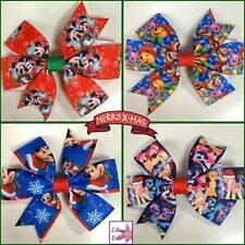 Christmas Character Hair Bows/Clips/Accessory- Minnie/Mickey/Winnie/Little Pony