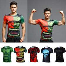Men Marvel Superhero Comics Costume Cycling T-Shirts Short Sleeve Bicycle Jersey