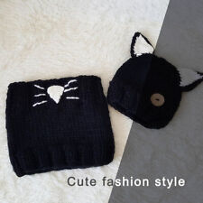Cute Looking Knitted Warm Animal Beanie Hat & Circle Scarf Set for Kids Children