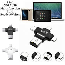 4 In 1 Mini USB OTG To USB 2.0 Adapter Micro SD Card Reader For All Smartphones
