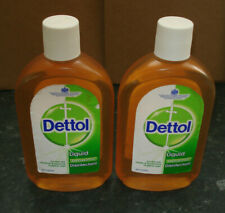 2 X Dettol Antiseptic Disinfectant Liquid Antibacterial- Large 500ml Sanitiser