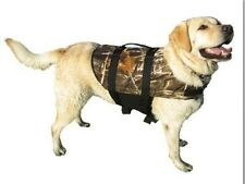 Paws Aboard Real Tree Camo Dog Life Jacket Preserver boat Hunting Vest