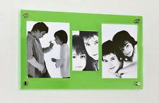 """Perspex acrylic multi picture photo frame for 2x 10x8"""" & 1x 5x7"""" all color pixi"""