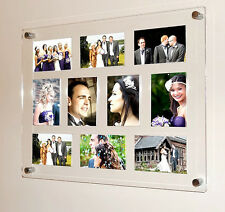 Black white red clear MAGNETIC GLOSS ACRYLIC PICTURE modern photo FRAME 10x 5x7""