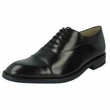 MENS CLARKS LEATHER LACE UP TOE CAP DRESS FORMAL WORK OFFICE SHOES SWINLEY CAP