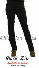 Ladies Work Girls School Trousers Size 4 6 8 1012 14 16 Skinny Leg Black Grey