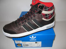 Mens Brand New ADIDAS TOP TEN HI Brown Leather Trainers