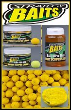 Strategy Baits Sweet Scopex Cream Boilies Fluo Pop Up Dip 1kg  2,5kg 12 14 20mm