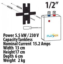 Plusen Instant In Line Electric Under Sink Tankless Boiler Water Heater