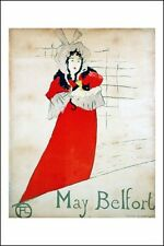 Poster/Affiche. Toulouse-Lautrec. May Belfort 1895. Neuf.
