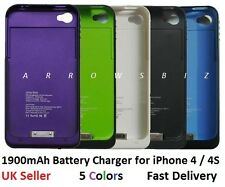 1900mah External Backup battery charger case cover power station for iPhone 4 4S