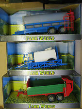Farm World Models Tanker Trailer Large Tractor Accessory Agricultural 1/32 BNIB