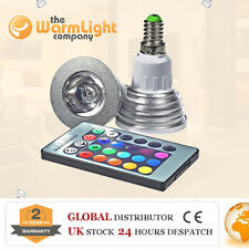 HI END 3W E14 Remote Controlled LED RGB Color Changing Spotlight Light Bulb Lamp