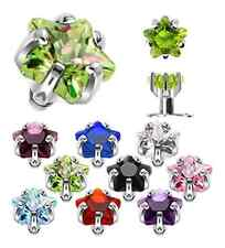 DERMAL ANCHOR DIVER TOP NEW crystal star claw set top  claw set choose - one