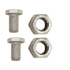 M10 (10mm) Galvanised Hot Dipped Hex Head Set Screws, Nut Bolt & Washer 3pc Set