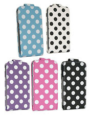 Apple iPhone 4 4G 4S Polka Dots Design Leather Protective Flip Pouch Case Cover