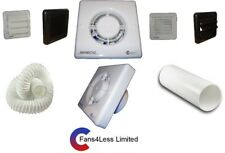 """Manrose XF100P Pullcord Toilet Extractor Bathroom Fan With/Without Kit 100mm 4"""""""