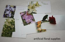 random assorted sympathy message card florist flower tributes CHOICE OF QUANTITY