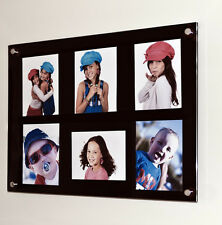 """Acrylic perspex wall multi picture photo frame  6x 9 x 6 """" photo pixi all colour"""