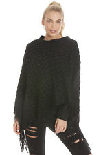 Central Chic Stunning Women's Poncho Wrap With Sequin Detail *FAST DELIVERY*