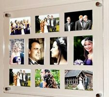 """Large gloss & matt acrylic perspex magnetic multi picture photo frame 10x 6x4"""""""