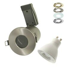 LED FIRE RATED BATHROOM DOWNLIGHT IP65 GU10 SHOWER 3W 4W 6W 6.5W DIMMABLE ZONE 1