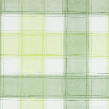 GREEN & WHITE TRADITIONAL CHECKED PVC WIPECLEAN PVC WIPE EASY TABLECLOTH