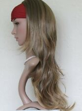 Ladies Synthetic Long Layered Wavy 3/4 Wig Half Wig Hairpiece Hair Extension 025